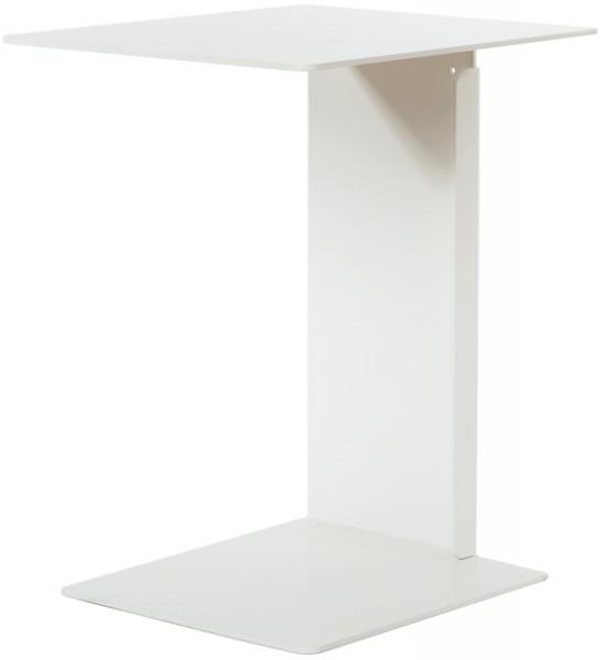 Beistelltisch HILLROY weiß ist als Ablagetisch oder als Nachttisch verwendbar.