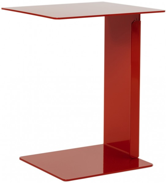 Beistelltisch HILLROY rot zeichnet sich durch klare Formen und klassische geometrische Linien aus